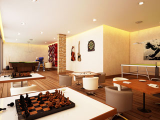 Flats Apartment Complex with ac indoor games room