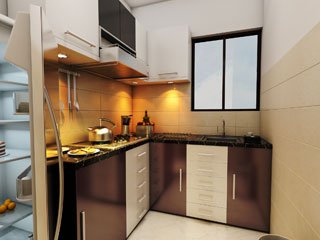 Flats Apartment Complex with big size kitchen