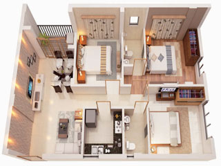 Bagaria Pravesh 3 BHK Flats in BT Road