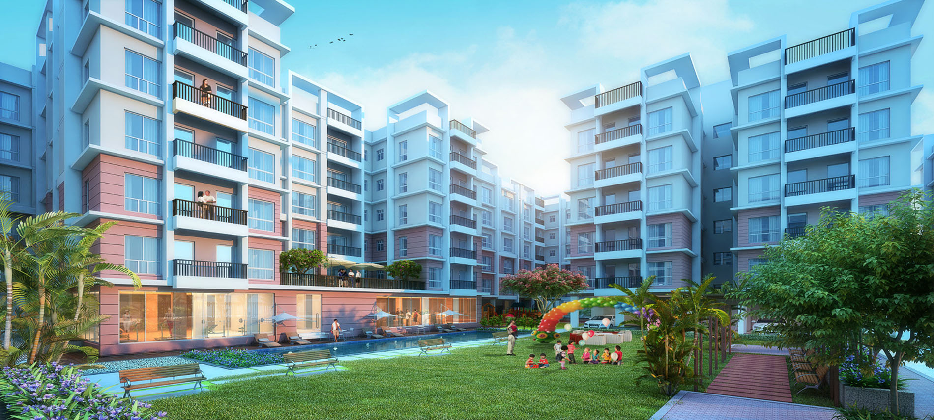 3 Bhk Apartments Residential Complex On Bt Road
