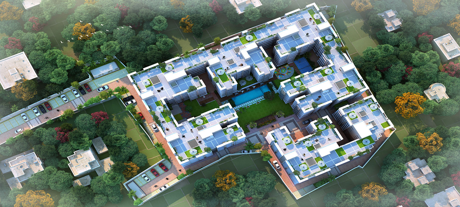 Buy Housing Complex with Garden Swimming Pool near BT Road